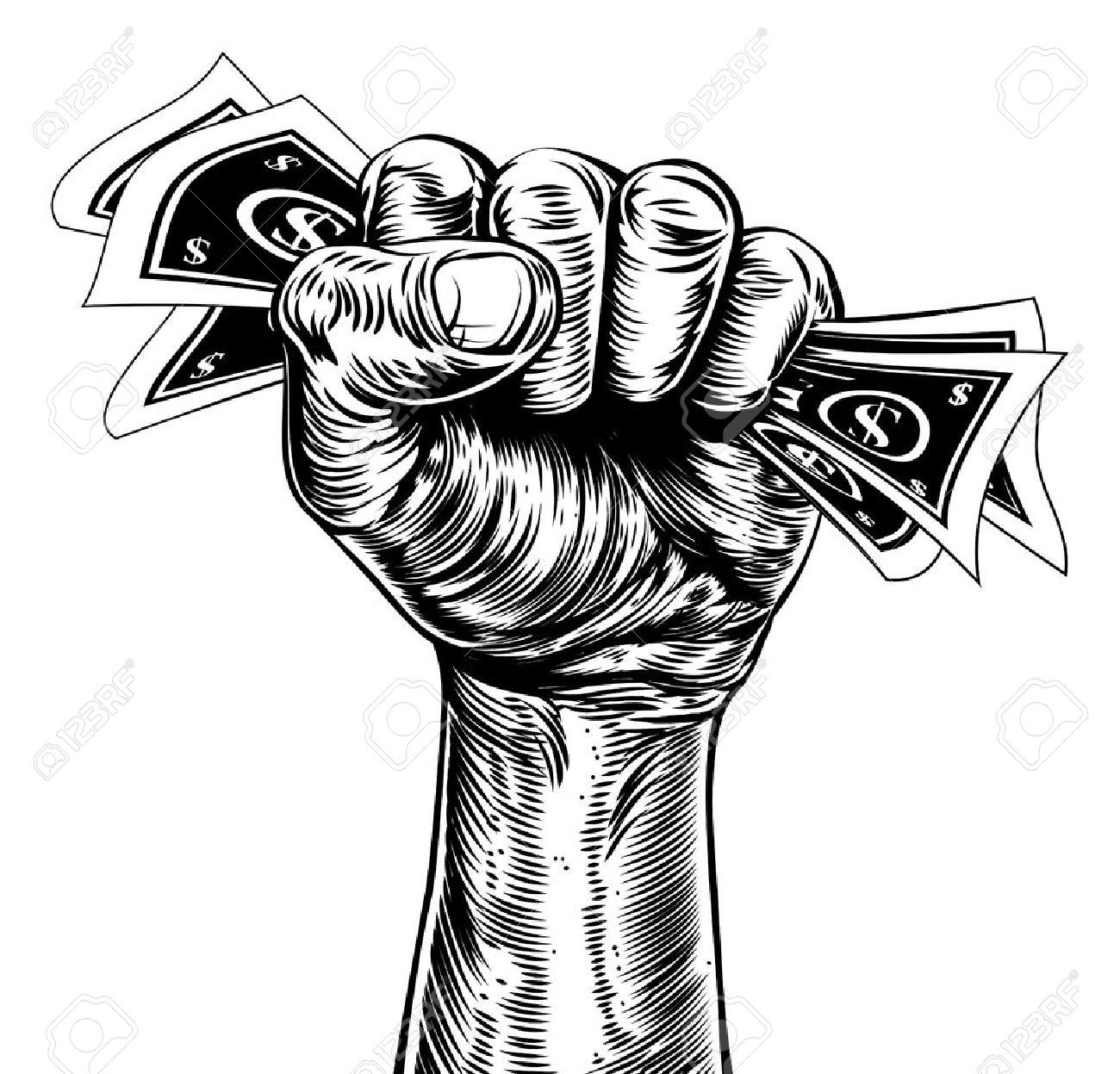 Stock Vector Black power fist in 2019 Free vector