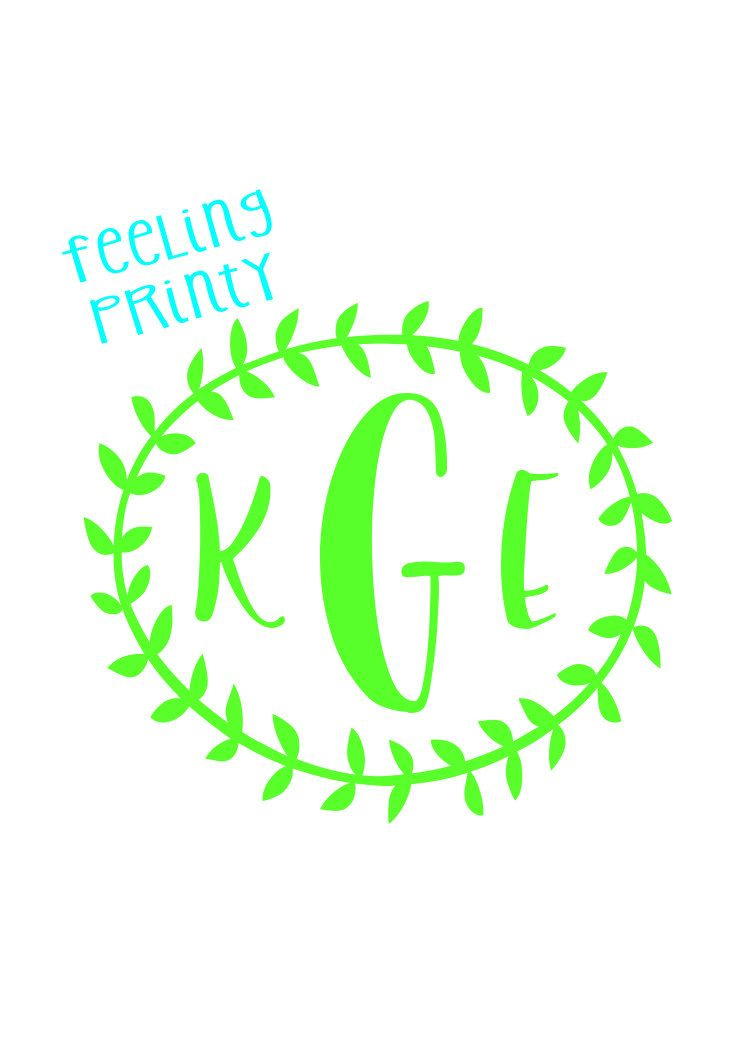 Super Cheap Monogram Decals!  Choose from 12 Colors and 9 designs by fEeLiNgPrInTy on Etsy