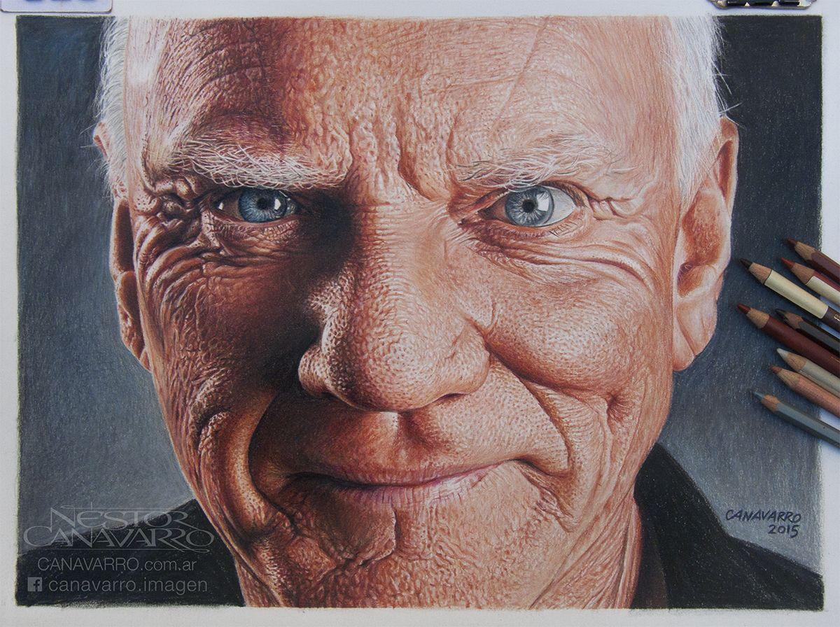 Malcolm McDowell Lápices De Colores Faber Castell Polychromos Y - Amazing hyper realistic pencil drawings celebrities nestor canavarro