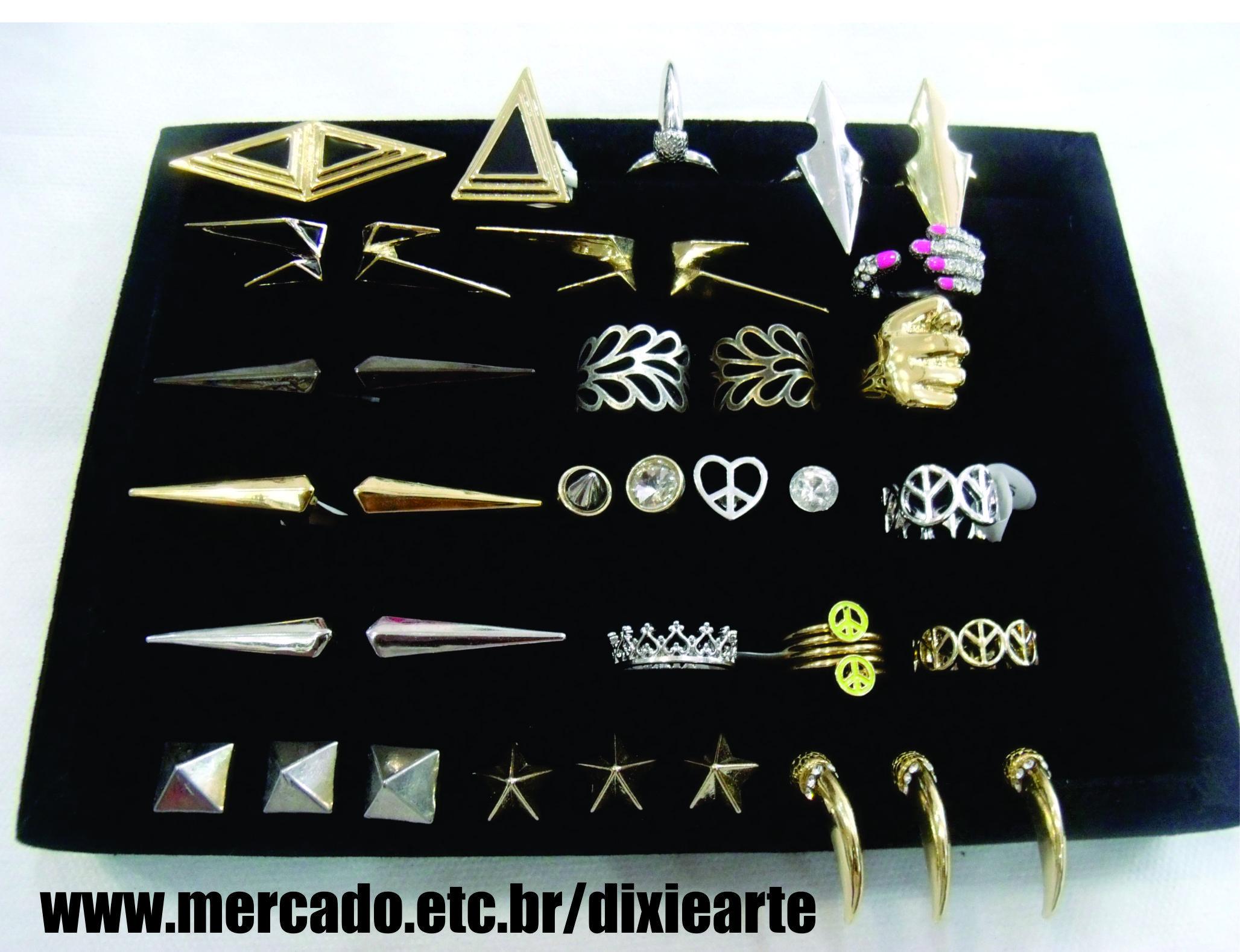Anéis Dixie Arte e Estilo   www.mercado.etc.br/dixiearte