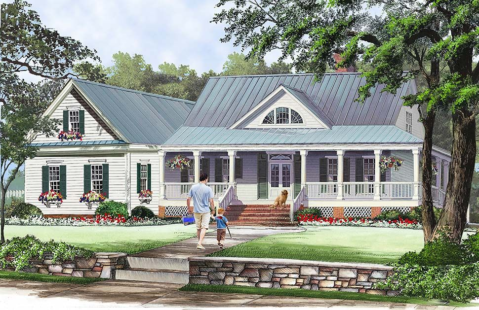 Southern Style House Plan 86351 With 3 Bed 3 Bath 2 Car Garage Farmhouse Style House Plans Farmhouse Style House House Plans Farmhouse