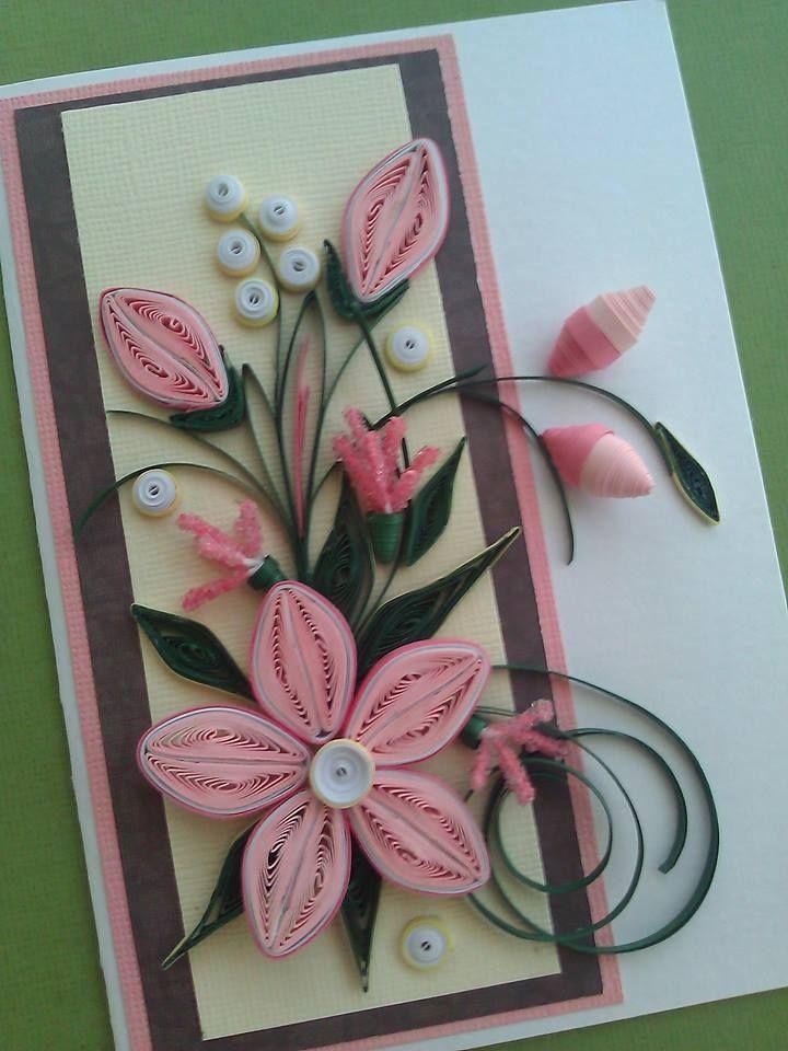 Открытки с цветами для начинающих