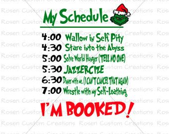 Image Result For The Grinch Schedule Svg Vinyl Creations