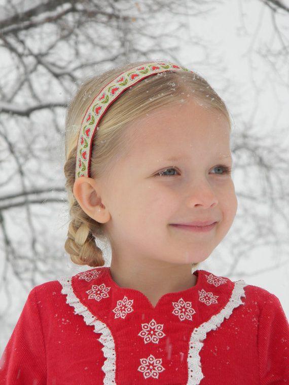 Hearts Or Horses Holiday Headband  Little Girls  Teen -4856