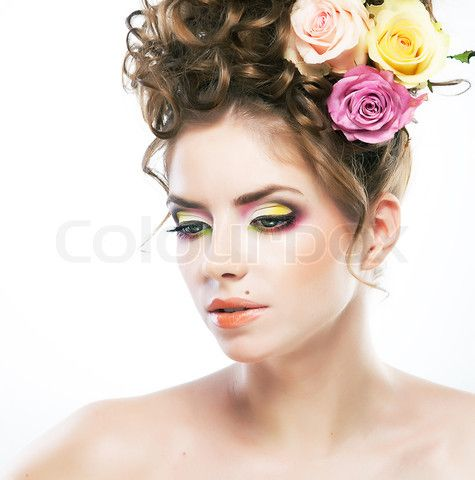 image of 'beautiful female face with beauty spot and