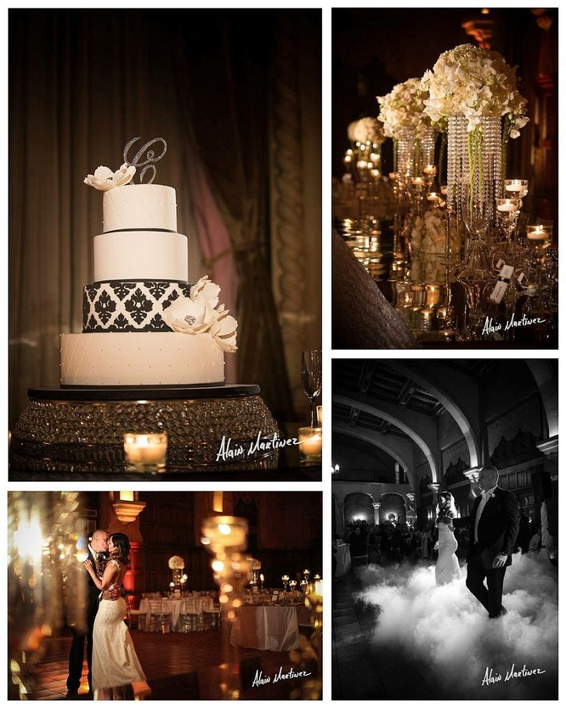 Gorgeous White Wedding Inspiration Bridalguide: Gorgeous Black And White Wedding At The Biltmore Hotel On