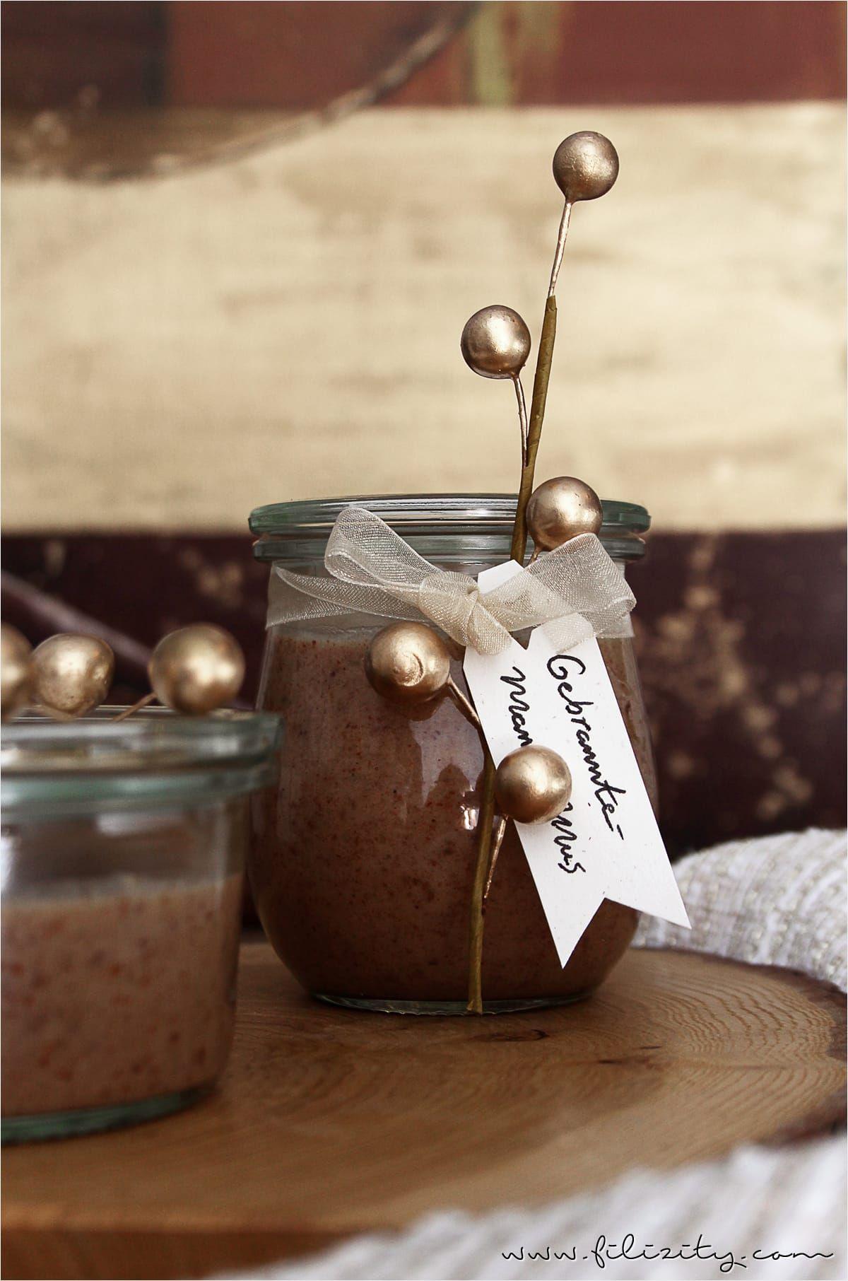 Gebrannte-Mandel-Mus - Weihnachten im Glas   Gebrannte mandeln, Süße ...