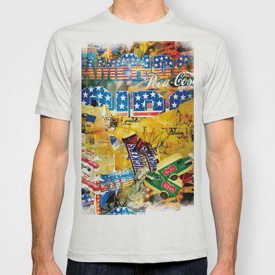 USA T-shirt by mayavisual - $22.00