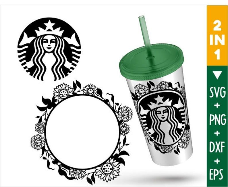 Sunflower Starbucks Svg Sunflower Tumbler Sunflower Starbucks Monogram Svg Custom Starbucks Cup Vozeli Com