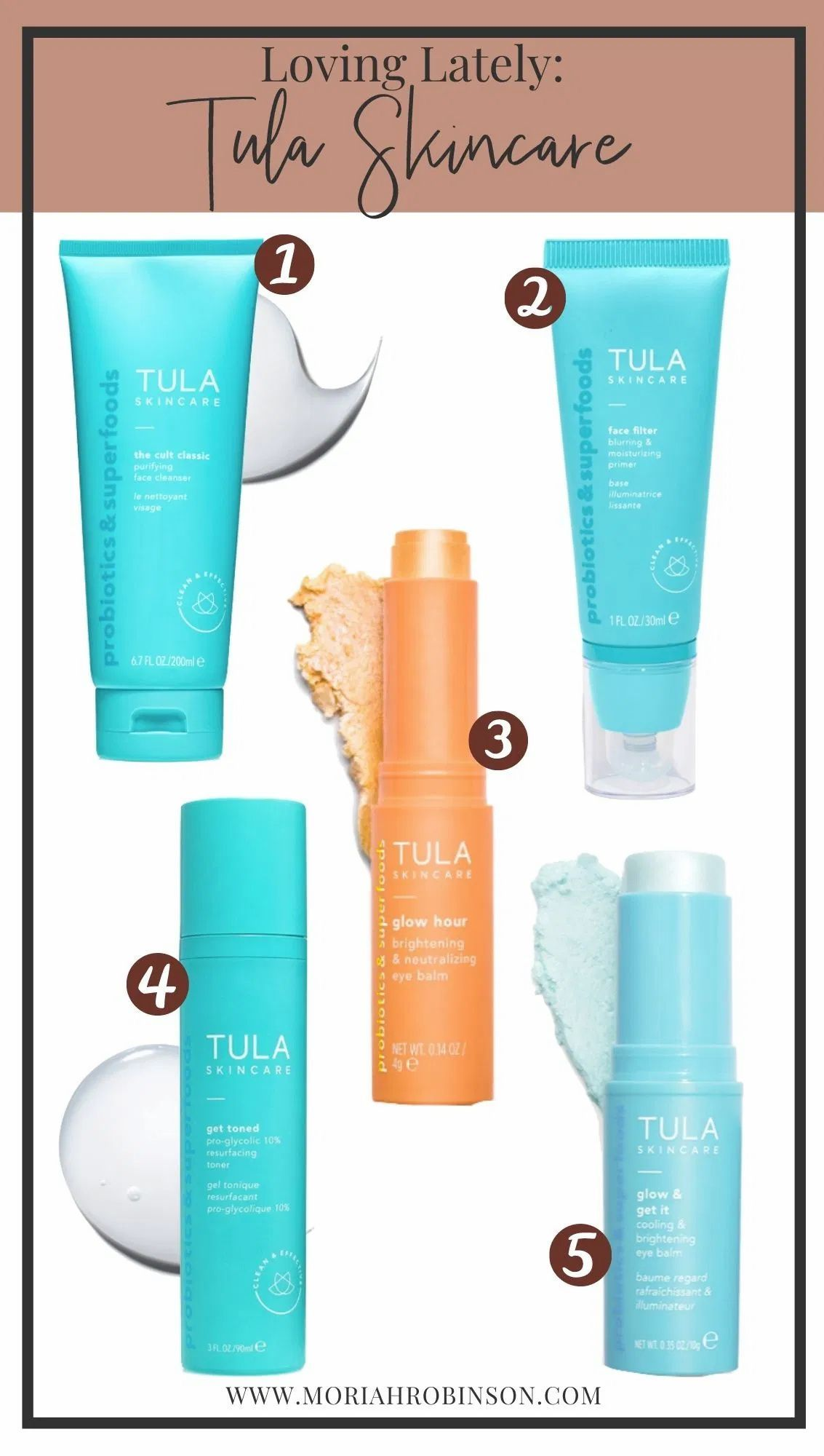 Loving Lately Tula Skincare Moriah Robinson In 2020 Tula Skincare Skin Care Glowing Skincare
