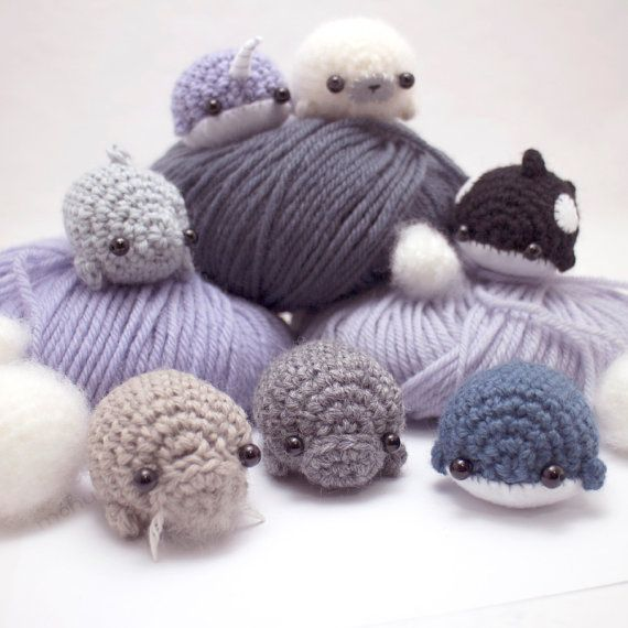 Amigurumi pattern - sea creatures crochet pattern ebook #crochetanimalamigurumi