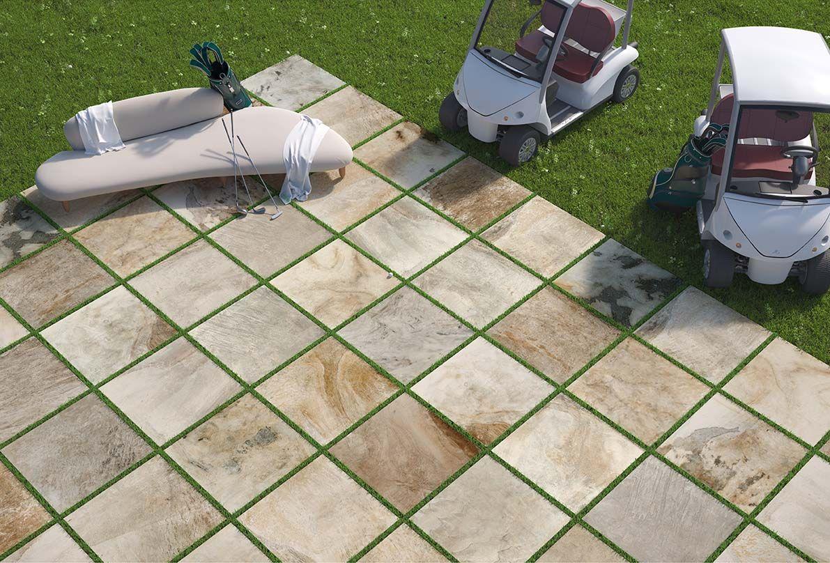 Posa Pavimento A Secco Giardino del conca el dorado, 80x80, 2 cm di spessore, piastrella da