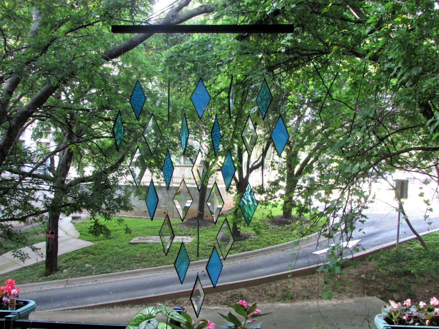 Stained Glass Dangles by GKYCreations on Etsy