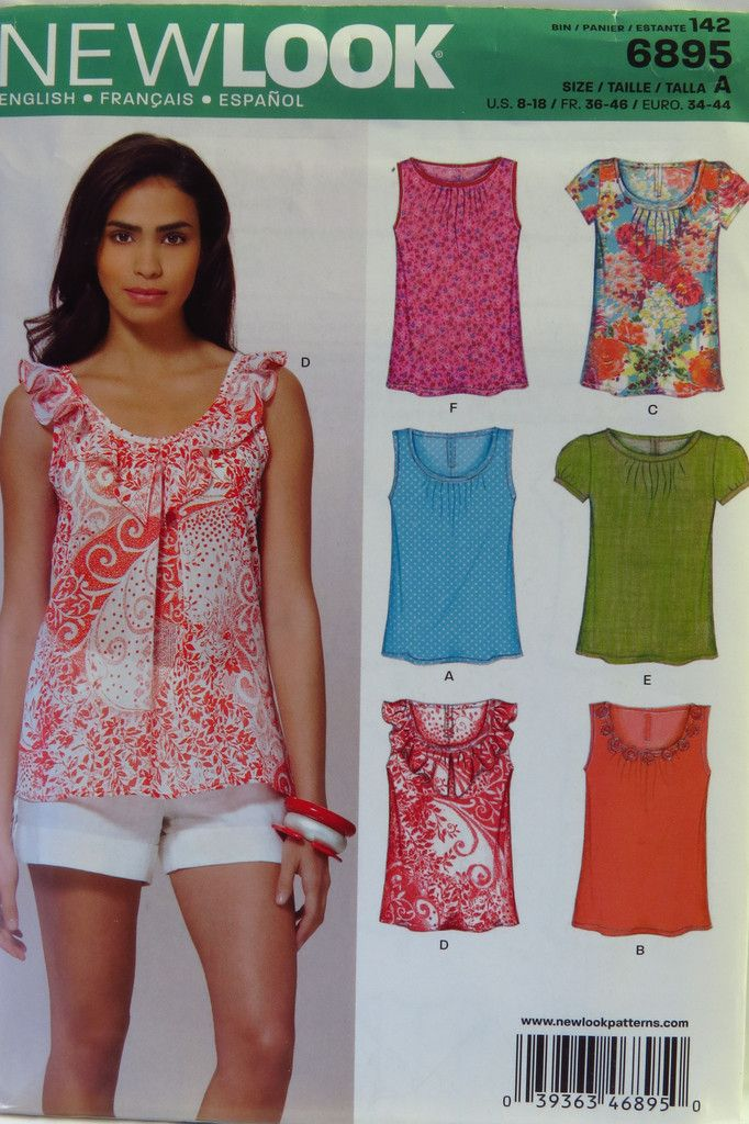 New Look 6895 Misses\' Tops | patterns | Pinterest | Sewing patterns ...