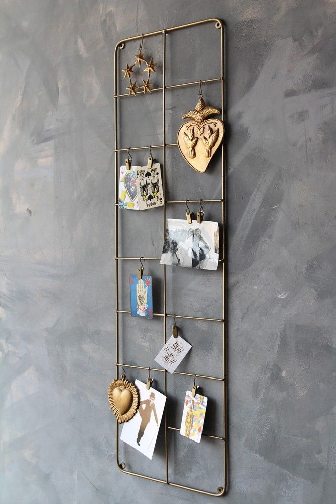 Tall brass wall frame from rockett st george