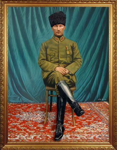 Ataturk Yagliboya Tablosu Tablolar Resim Nadide Fotograflar