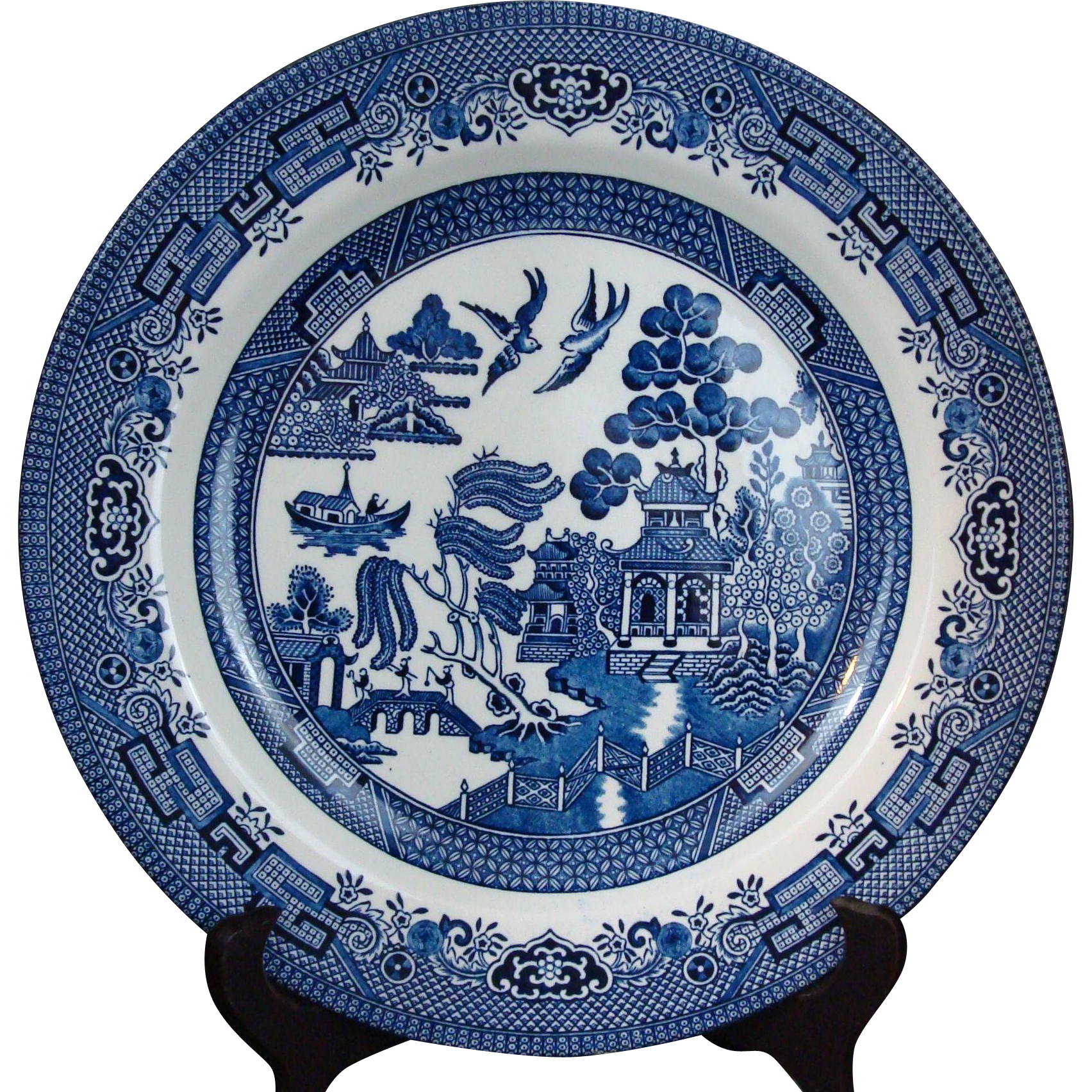 (1) One Dinner PLATE Blue Willow by Churchill England  sc 1 st  Pinterest & 1) One Dinner PLATE Blue Willow by Churchill England | Pottery ...