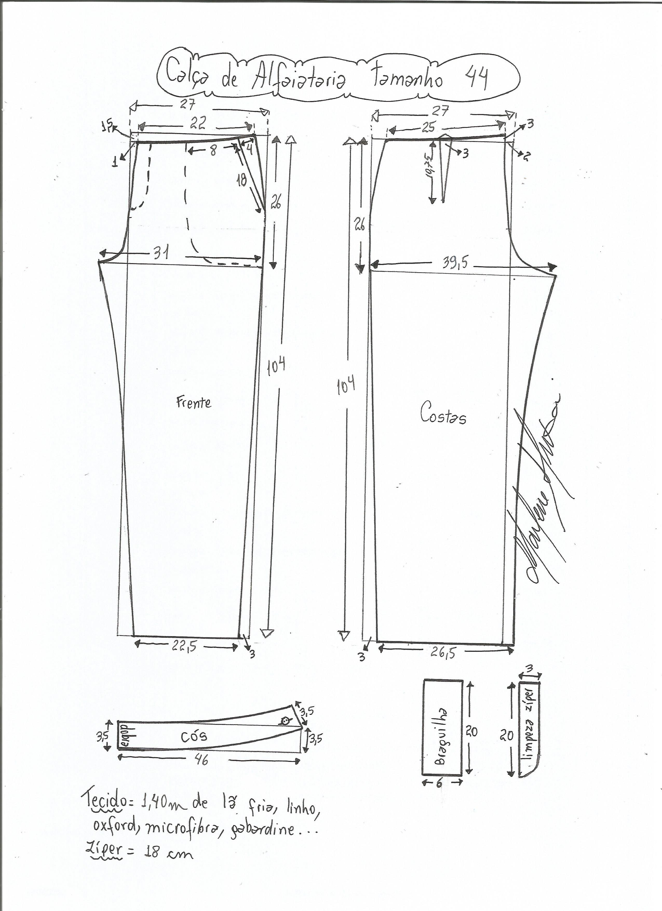 calçaalfaiataria-44.jpg (2550×3507) | costura - dicas | Pinterest ...