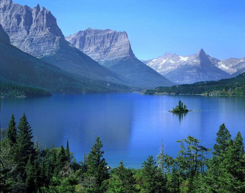 Lake St Mary Glacier National Park Montana
