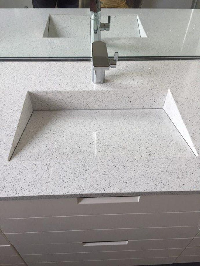 Projet Sdb Modele Armony Silestone Blanco Stellar Cosentino In 2020 Silestone Sink Stellar