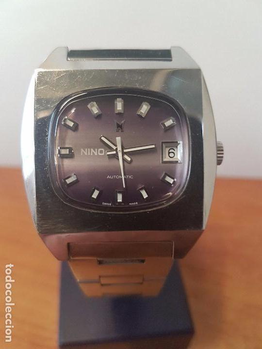 083c60aea77c Reloj de caballero (Vintage) automático marca NINO SUIZO .