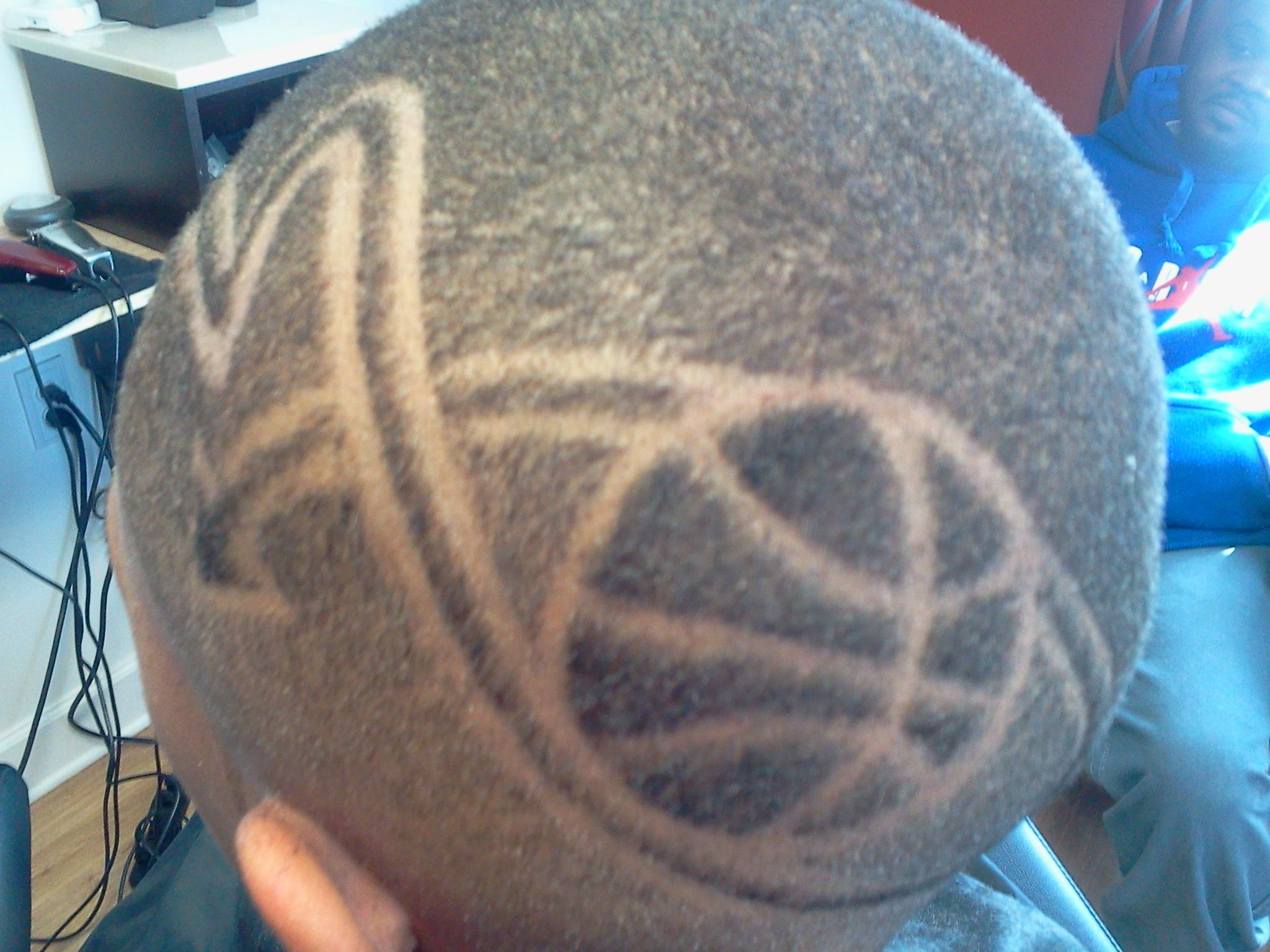 Hair Style Design: Basketball Themed Design That I Did From A Part.