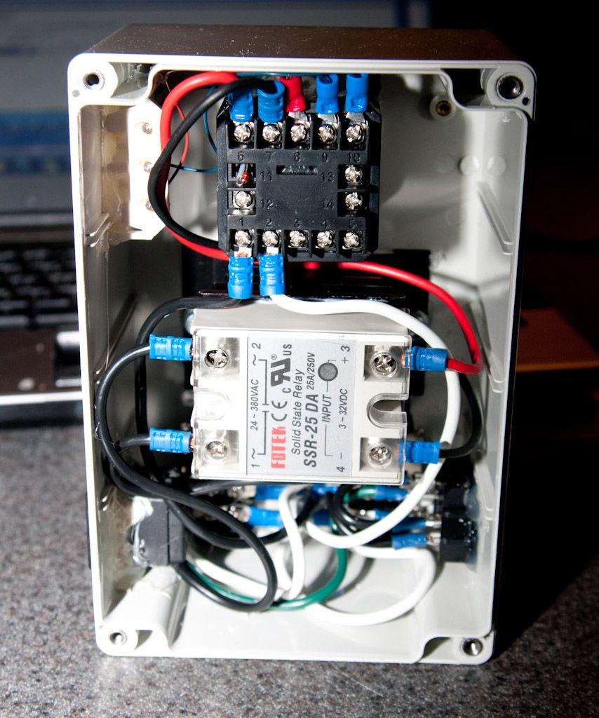 hight resolution of pid controller wired up in the project box brewing pinterest jld612 wiring diagram pid