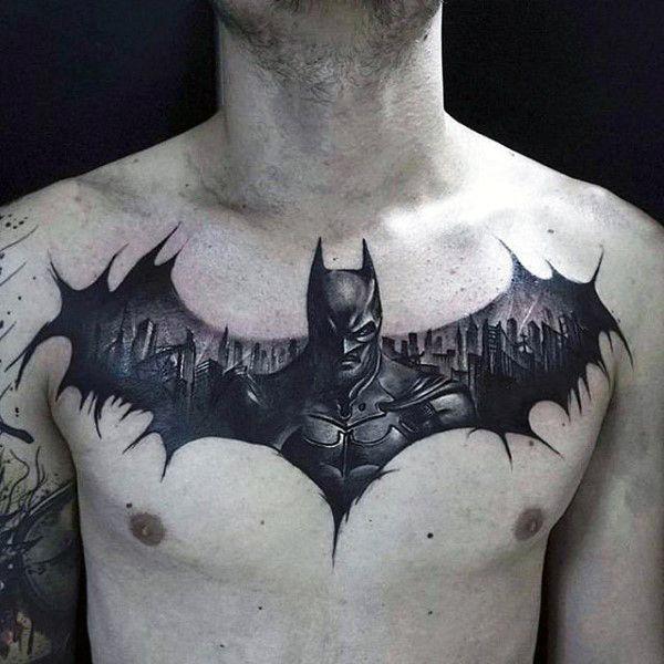 50 Batman Symbol Tattoo Designs For Men