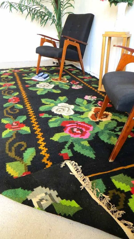Schwarz und weiß Wohnzimmer Teppiche Perserteppiche, Teppich