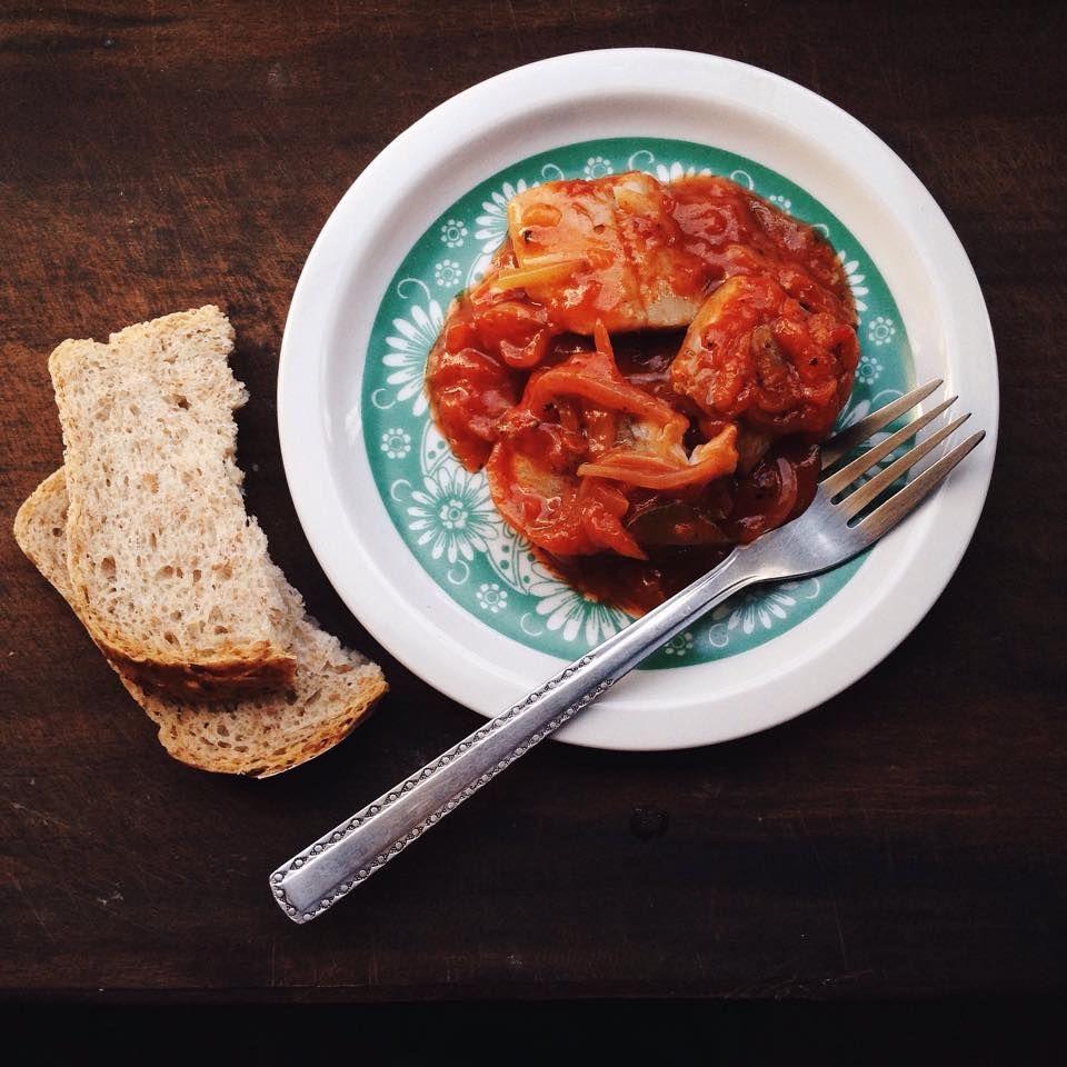 ..seened sibula ja tomatipastaga