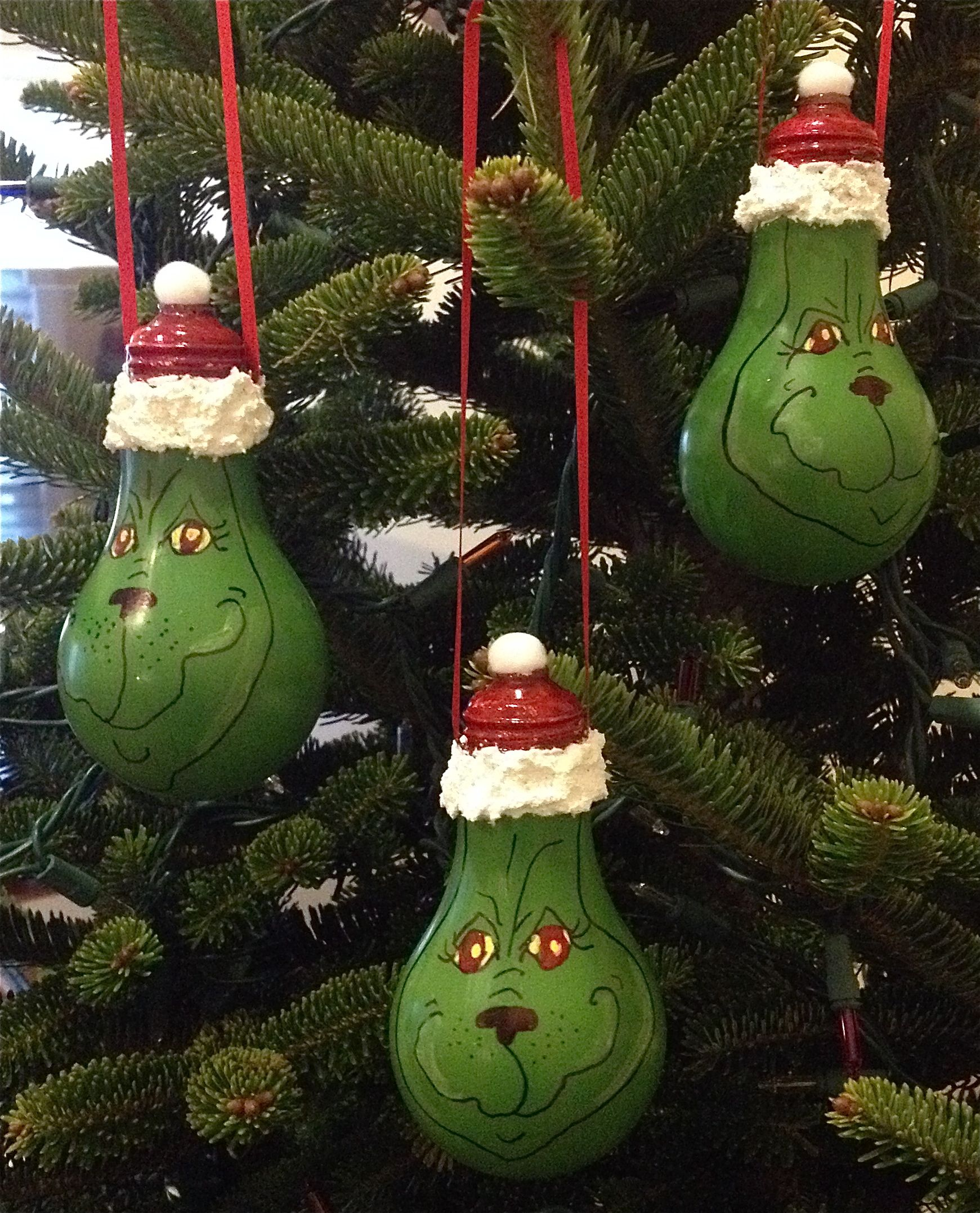 You Re A Mean One Mr Grinch Lightbulb Ornaments Holiday Crafts Christmas Crafts Christmas Ornaments