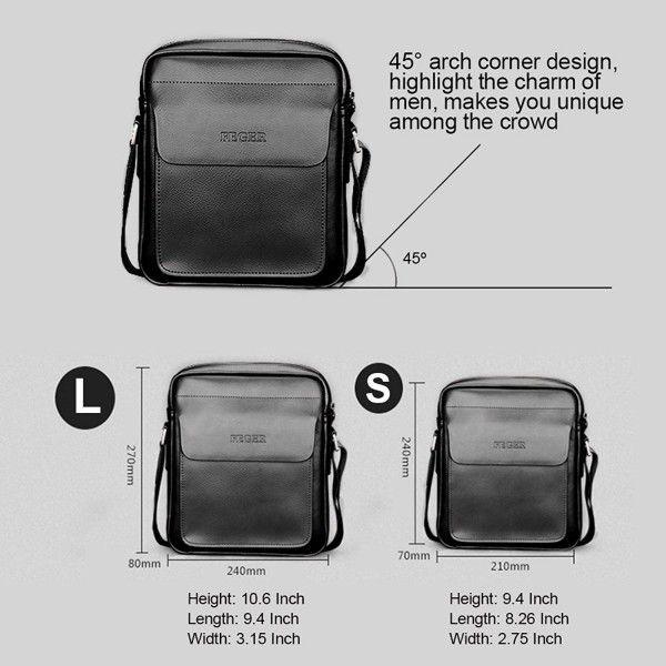 cad57c7d46 Men s Leather Shoulder Bags Travel Bag Messenger Bag Cross Body Bag ...