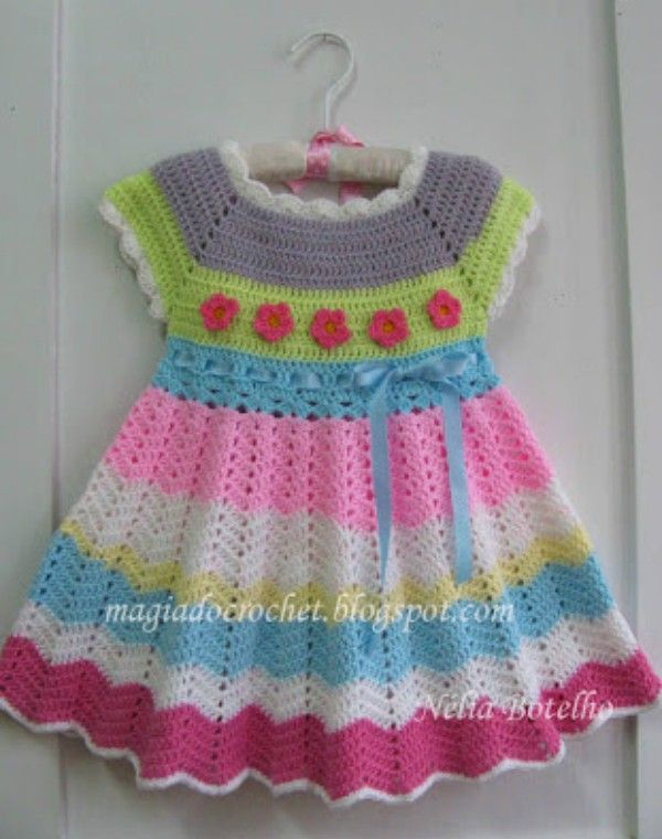 Chevron Chic Baby Dress - Free Crochet Patterna | crochet ideas ...