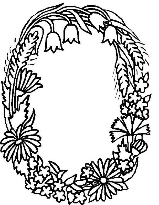Alphabet Flower O Coloring Pages | Monogramas | Pinterest | Flower ...