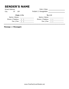 Make Your Faxes Bilingual With This Printable Fax Cover Sheet