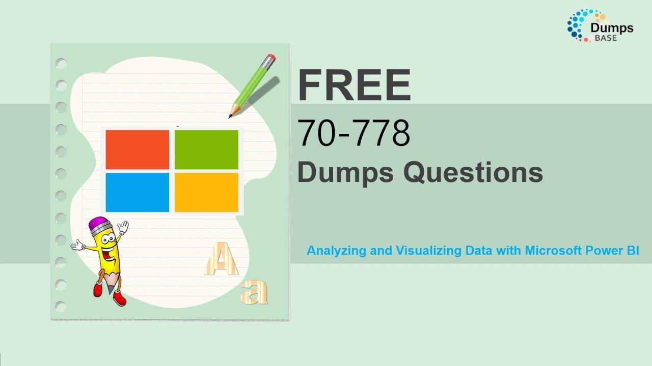 Dumpsbase 100 Valid 70 778 Microsoft Mcsabi Reporting Exam Dumps