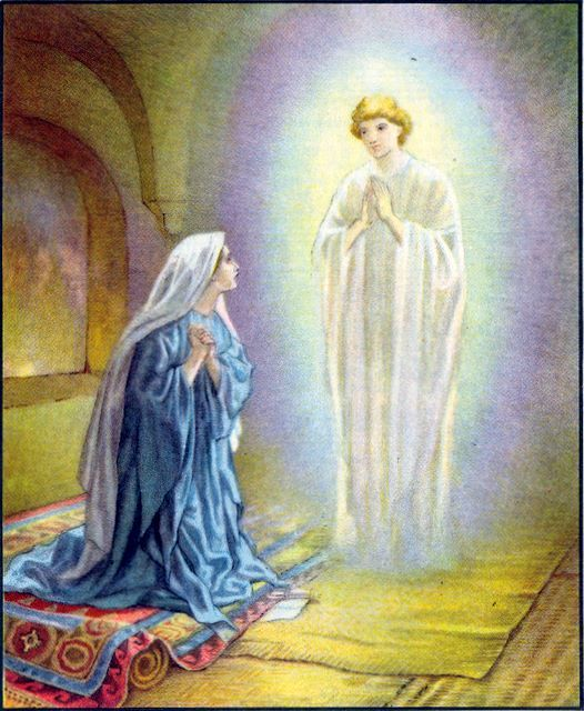 Mary Is Visited By The Angel Gabriel Women Of The Bible In 2019