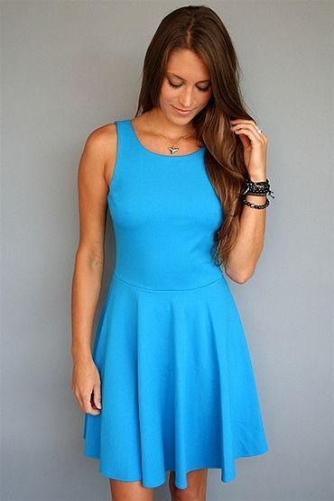 Sky Blue Skater Dress, on www.rosietrue.com, $178