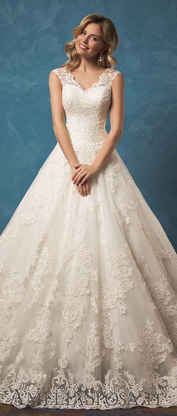83406b158d97 Amelia Sposa V-cleavage and skirt wedding dresses Melania 2017