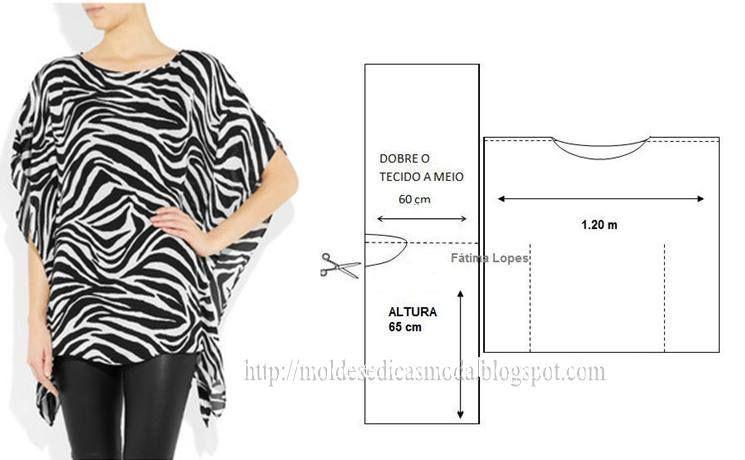 TÚNICA- Moldes Moda por Medida | costuras | Pinterest | Costura ...