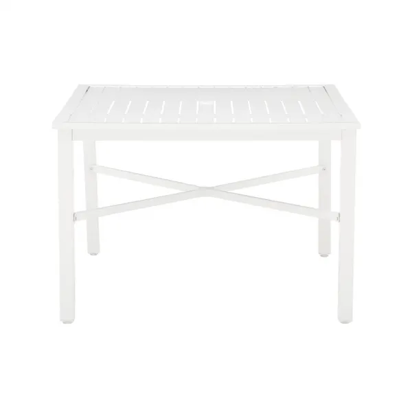 square metal outdoor patio dining table