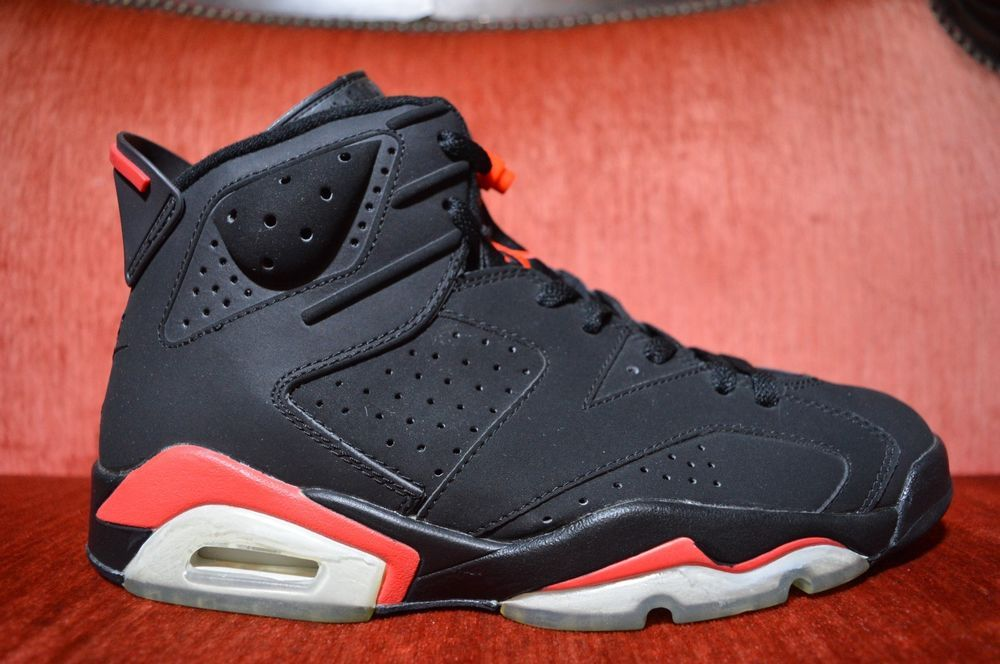 47a660a2bf55 eBay  Sponsored 2000 Nike Air Jordan VI 6 Retro BLACK DEEP INFRARED RED  BRED 136038-061 Size 9