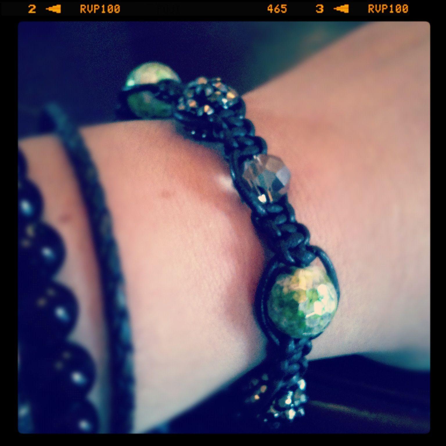 Handmade disco ball bracelet.