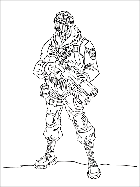 Fortnite Coloring Pages For Kids Free Printable Fortnite Coloring
