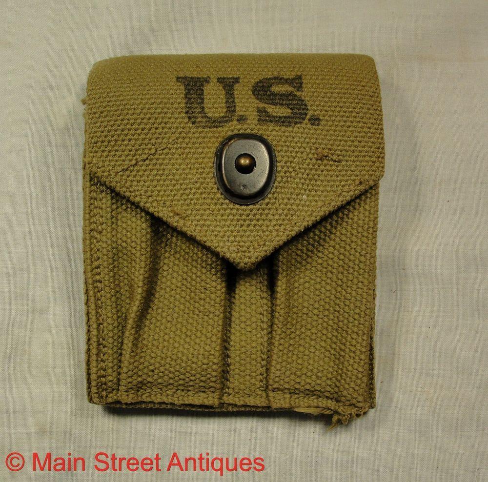 WW2 US PISTOL BELT  45 1911 MAGAZINE POUCH  BOYLE 1942