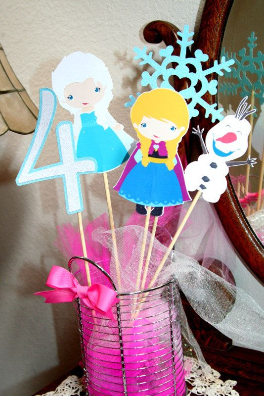 Frozen Snow Princess Party Table Toppers CHOOSE 3 on Etsy 853