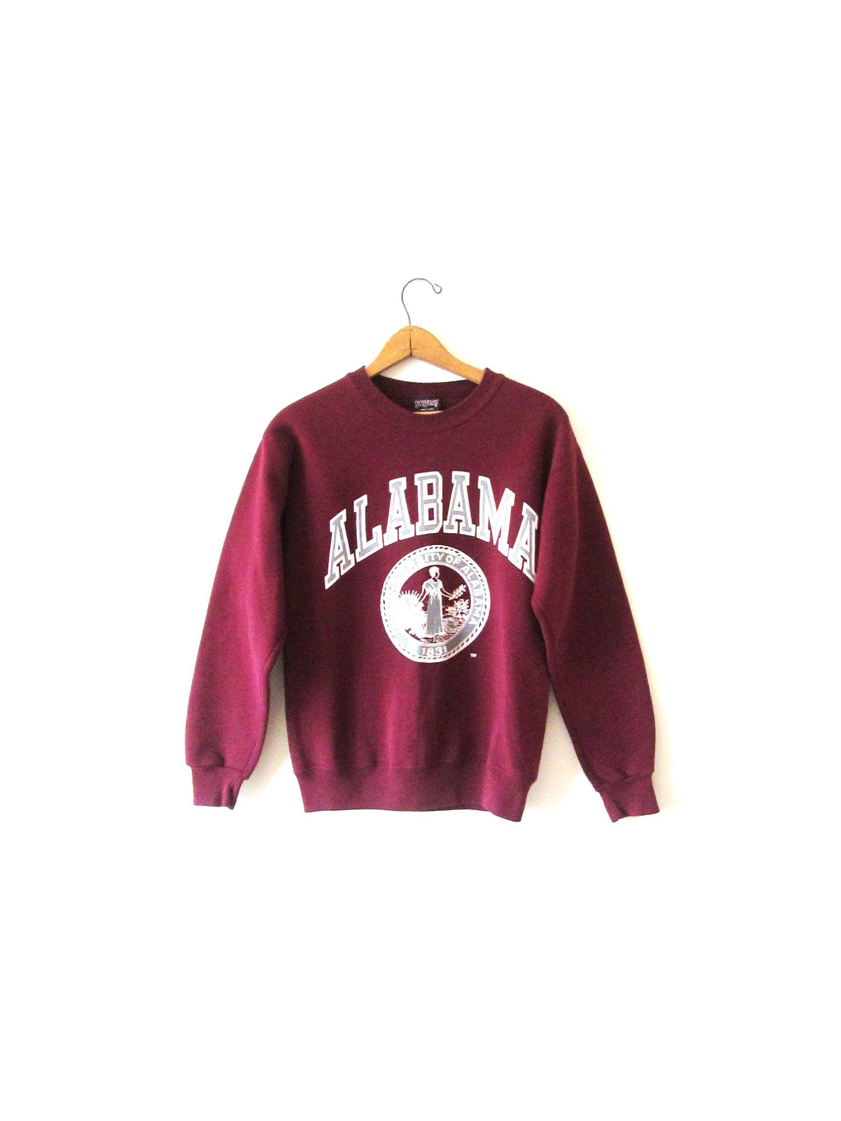 Vintage 1990s Alabama University Of Alabama Jansport Crimson Tide Roll Tide Sweatshirt Sz S Alabama Clothes Alabama Sweatshirt Football Outfits [ 2304 x 1728 Pixel ]