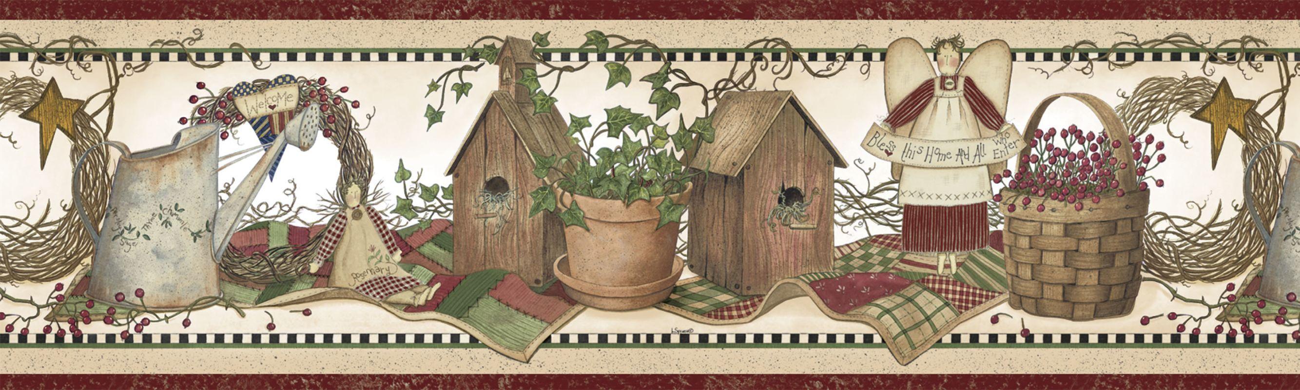 Home Garden Country Primitive Birdhouse Baskets Candles