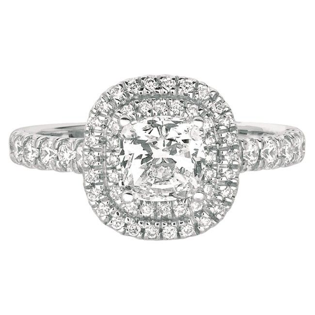 FlyerFit Classic Cut Down Micropave Engagement Ring Wedding
