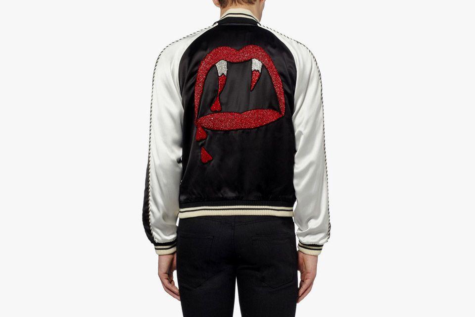 afe94a100cc Saint Laurent Blood Lustre Satin Bomber Jacket | the piss | Designer ...